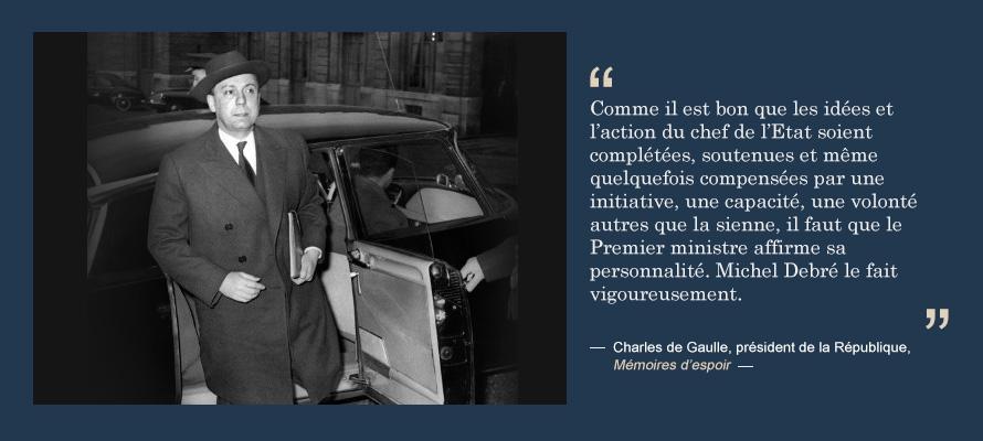 Michel debr portail du gouvernement - Chef de cabinet du president de la republique ...